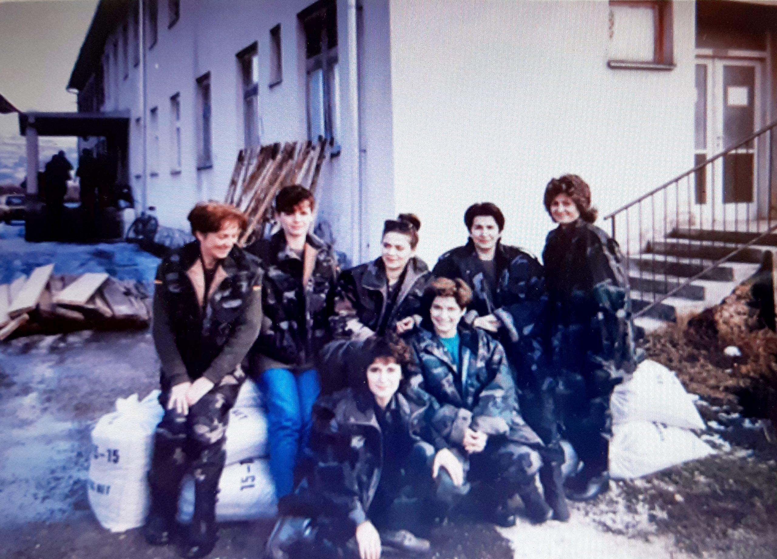 Riječka medicinska ekipa u Brinju na samom početku rata, 1991. godine Foto ELI šUPERINA MANDIĆ