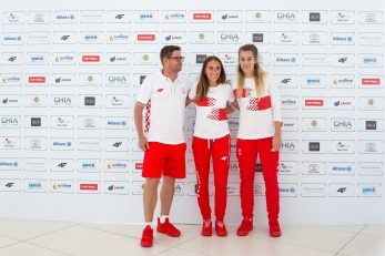 Slavko Petrović, Matea Parlov-Koštro i Sara Kolak/Foto HOO