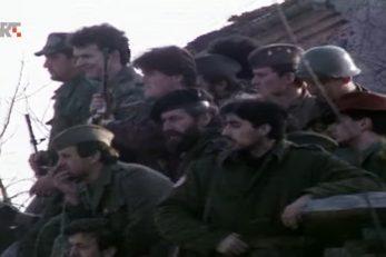 Pobunjeni Srbi kod Gline 1991. godine (ne prikazuje osobe iz teksta) / Foto Screenshot HRT