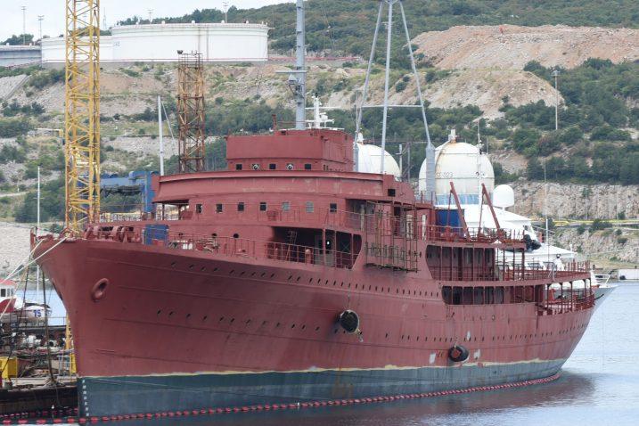 Brod »Galeb« u brodogradilištu Kraljevica / Foto Marko GRACIN