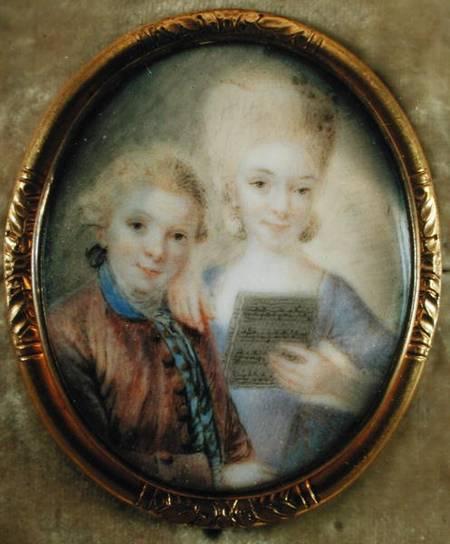 Wolfgang Amadeus Mozart i njegova sestra / Foto WIKIPEDIA