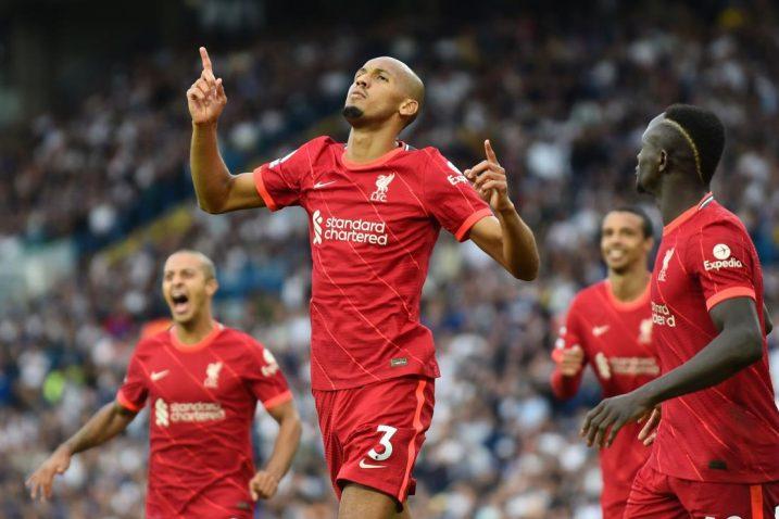 Fabinho slavi pogodak/Foto: REUTERS