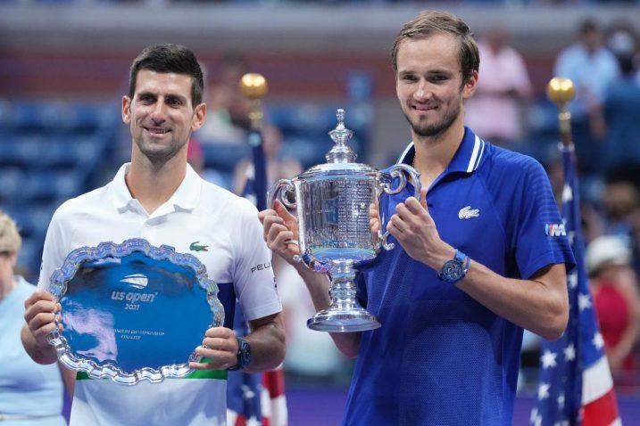 Novak Đoković i Daniil Medvedev/Foto REUTERS