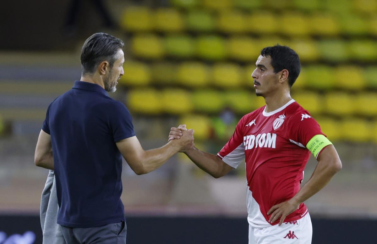 Niko Kovač i Wissam Ben Yedder/Foto REUTERS