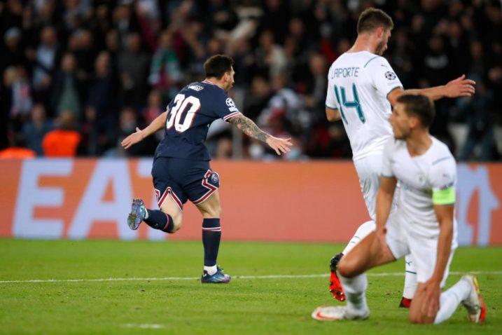 Leo Messi slavi prvijenac u dresu PSG-a/Foto: REUTERS