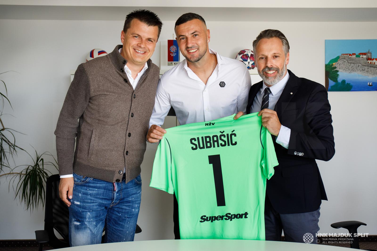 Mindaugas Nikoličius, Danijel Subašić i Lukša Jakobušić/Foto: hajduk.hr