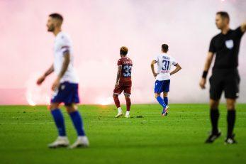 Bakljada na utakmici Hajduk - Rijeka/Foto: PIXSELL