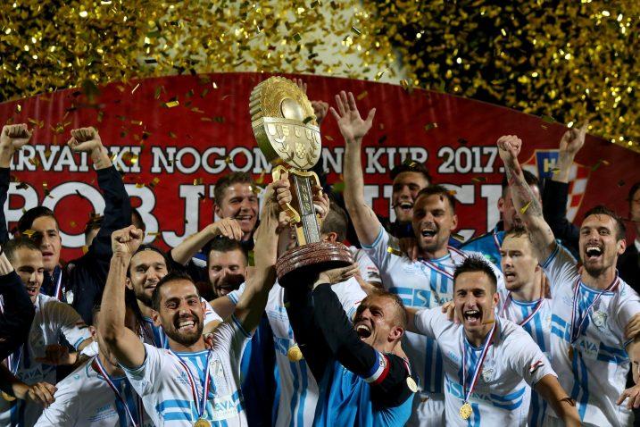 Slavlje nogometaša Rijeke nakon osvojenog Kupa 2017. godine/Foto: PIXSELL