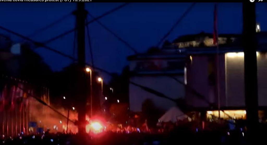 Prosvjedi u Sloveniji / Screenshot