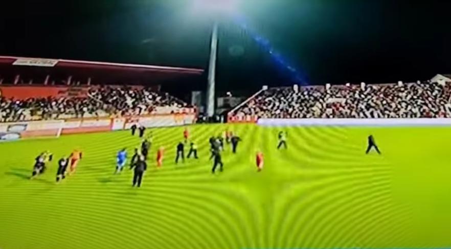 Neredi na utakmici Veleža i Borca/Foto YouTube