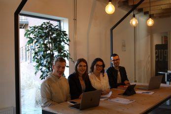 Osnivači nizozemske tvrtke Theswipe – Nikola Frlan, Isabella Dintinjana, Lara Belko i Fabijan Božajić