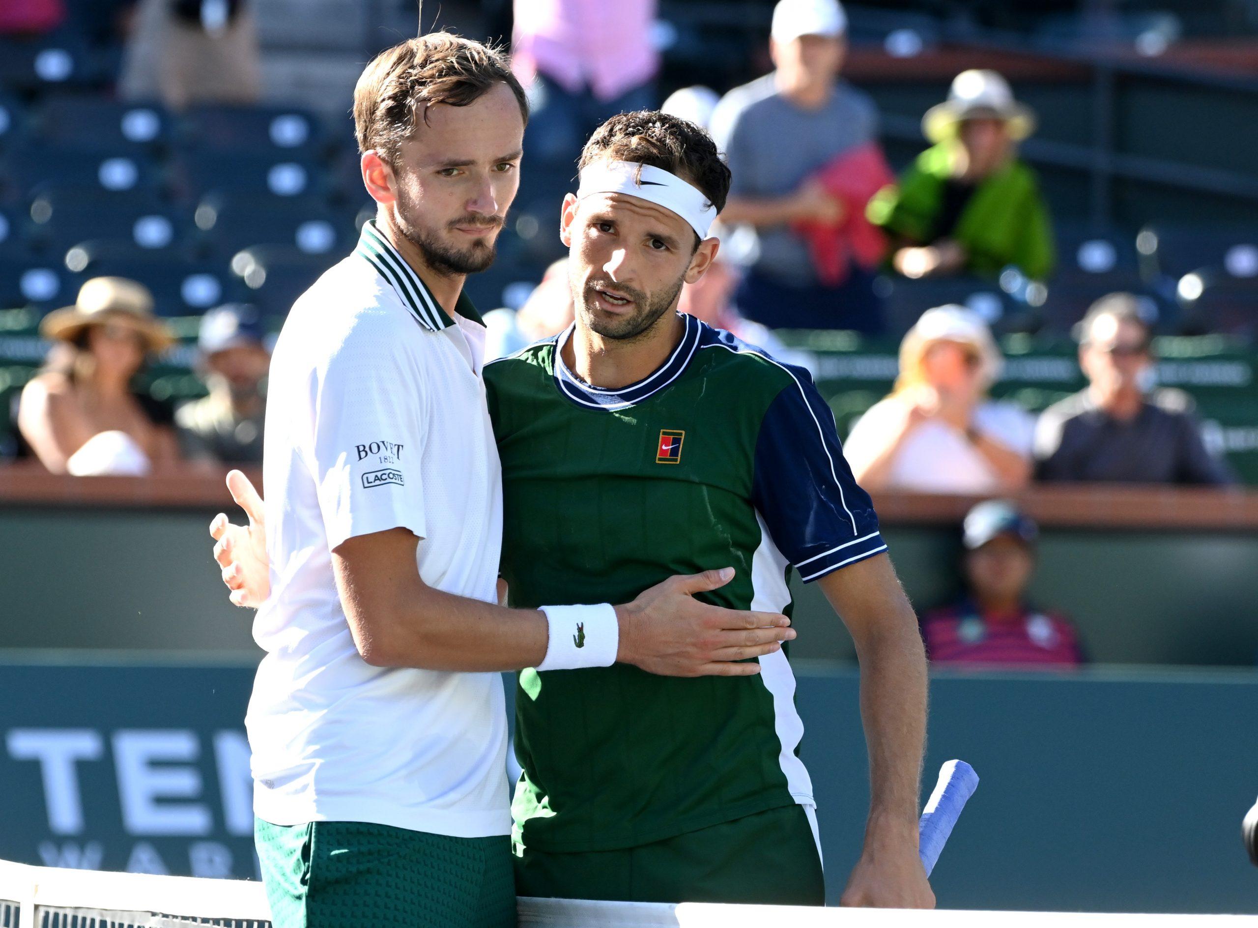 Danil Medvjedev i Grigor Dimitrov/Foto REUTERS