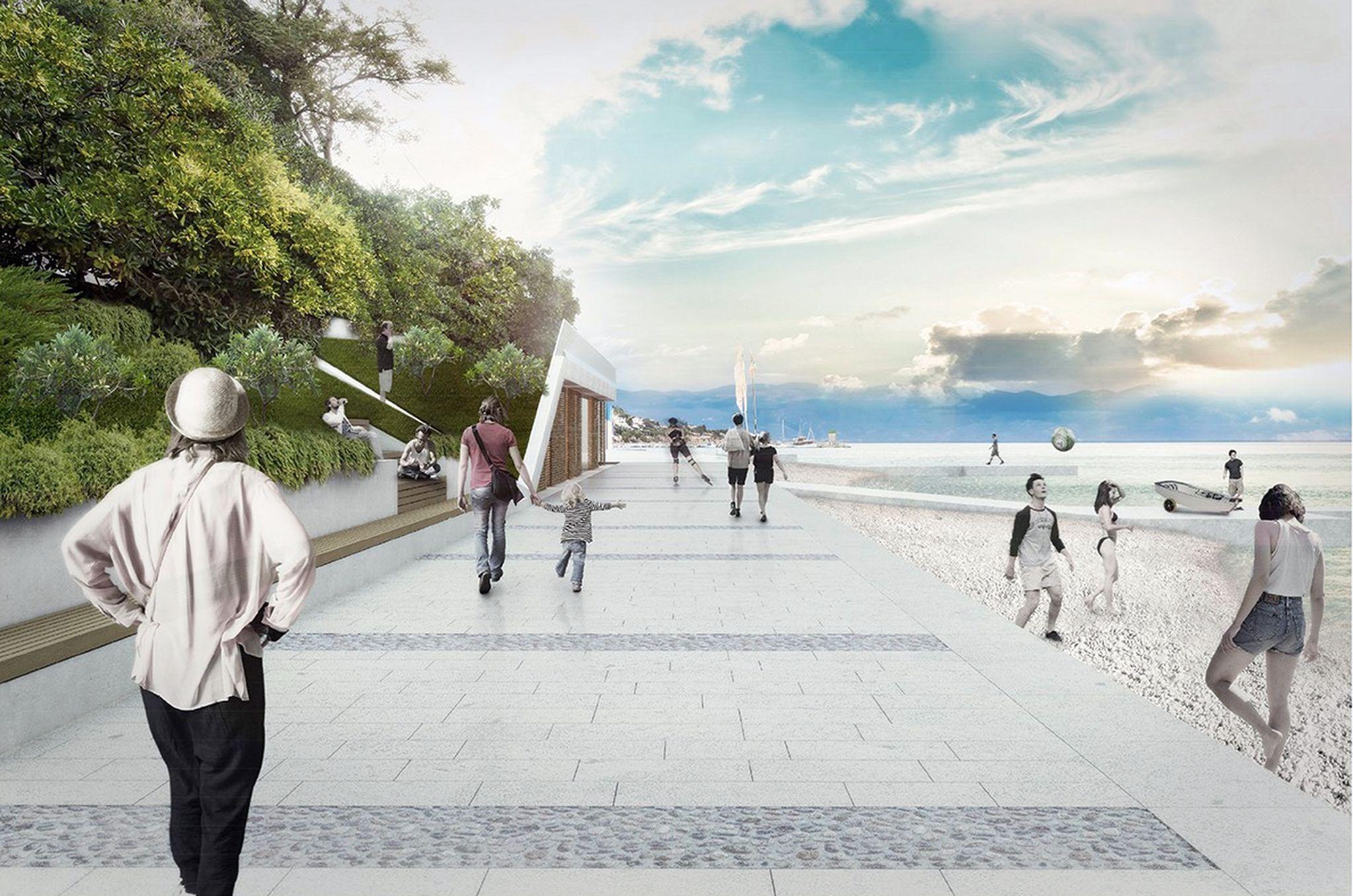 Vizualizacija budućeg izgleda rive u Baški