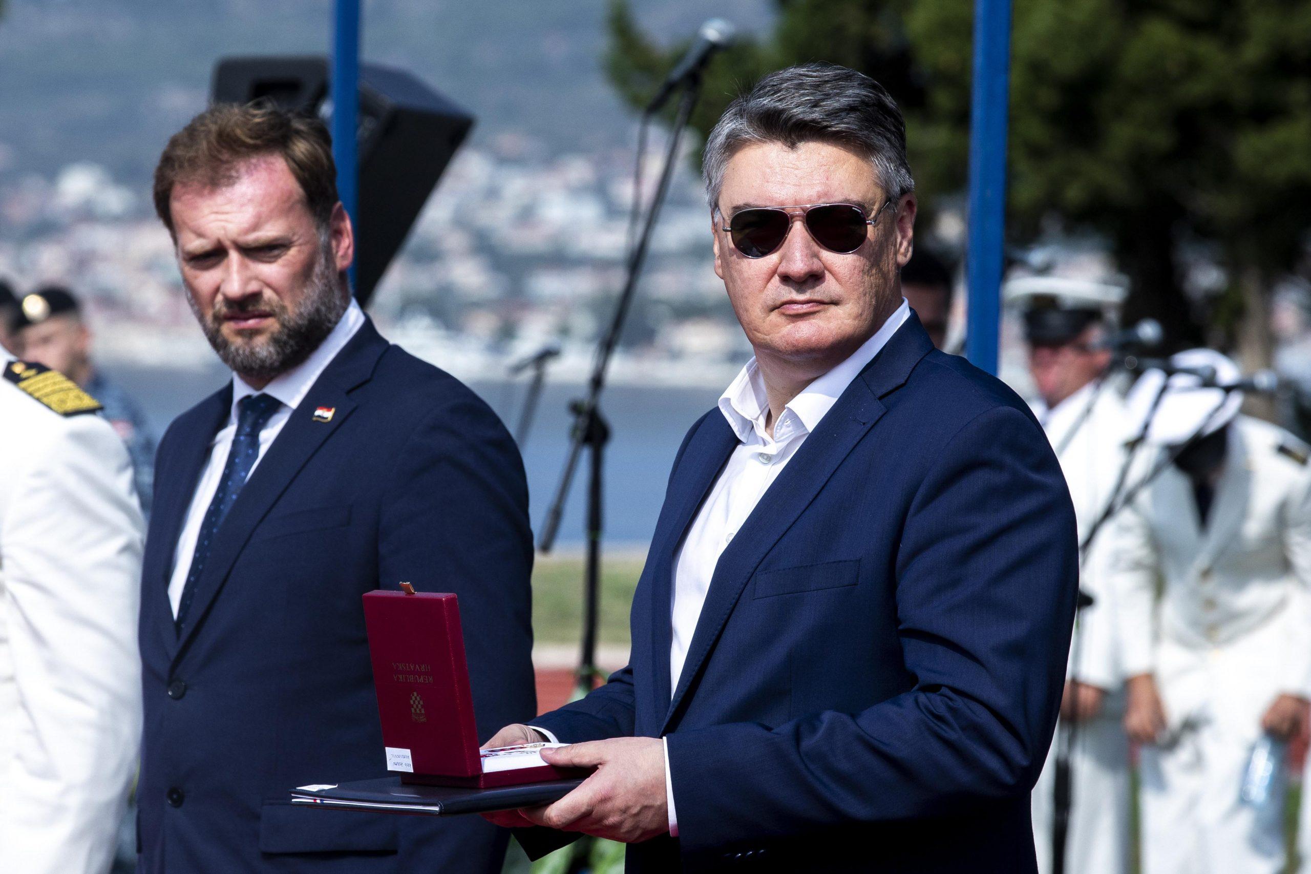 Mario Banožić i Zoran Milanović / Foto Miroslav Lelas/PIXSELL