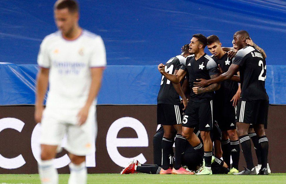 Slavlje igrača Šerifa protiv Real Madrida/Foto: REUTERS
